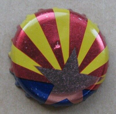 Arizonia State Flag Micro Beer Bottle Cap