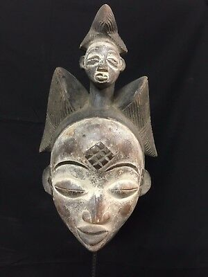 Old Maiden Double Face Punu Mask Gabon.......Fest- GBBN22