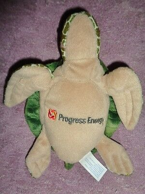 "Turtle Progress Energy 8"" Green with Brown Belly Stuffed Plush Toy Electric Co."