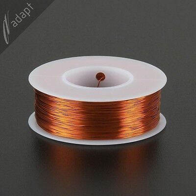 28 AWG Magnet Wire, Enameled Copper, Natural, 200C, ~1/4 lb, 500ft