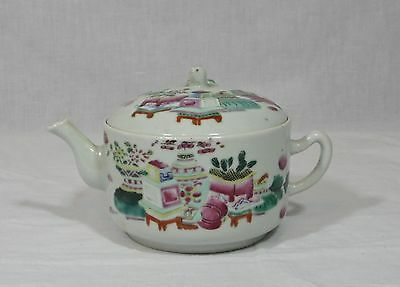 19Thc Chinese Famille Rose Finely Decorated Hand Painted Signed Teapot