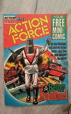 Action Man Action Force No.1 Mini Comic  1983