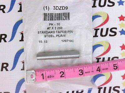 NSOP Stanlok TP0700225PL #7 x 2 1/4 In. Taper Pin Carbon Steel 10 pk