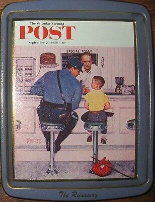 3 Norman Rockwell Saturday Evening Post Vintage tins