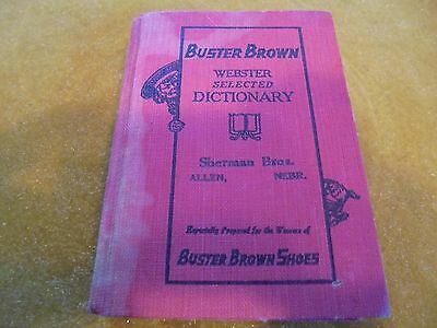 "1927 Edition Of ""buster Brown"" Advertising Dictionary-Sherman Bros Store In Alle"