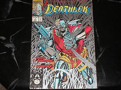 Deathlok #1 1991 Silver Ink Cover Good+ Condition