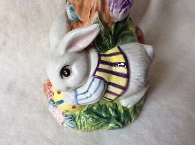 fitz and floyd Easter Bunny vase