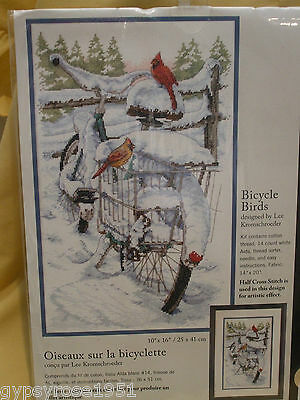 Dimensions Counted Cross Stitch 'Bicycle Birds'