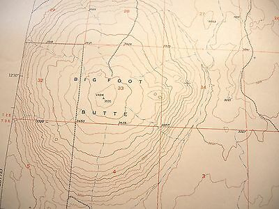 1948 Big Foot Butte Idaho USGS Topo Map