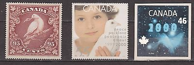 """Canada # 1812-1814  """" Millennium Issue (Dove ) """"  Mint NH"""