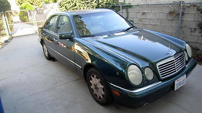 1996 Mercedes-Benz E-Class leather 1996 Mercedes Benz British Racing Green E320 Sedan w/Pumpkin Leather Interior