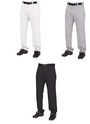 Baseball Pants - Rawlings Semi-Relaxed- YOUTH- Open bottom - White/Grey