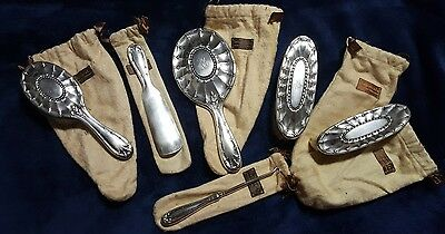 1909 Tiffany and Co Sterling 6pc Grooming Vanity Set