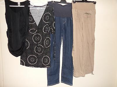 ladies maternity  jeans bub2b size 10 black top size s  & ripe pants  size s