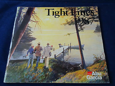 Vintage Abu Tight Lines Fishing Catalogue For 1987