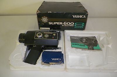 Vintage Yashica Super-600 Electronic Movie Camera Super-8 with remote