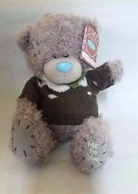 Me to You 8-Inch Tatty Teddy Plush Bear Wearing Christmas Pudding Jumper