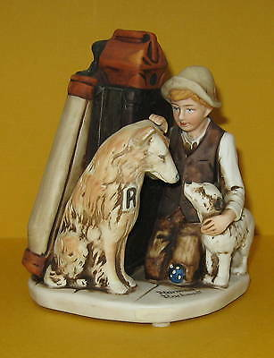 David Grossman Friends in Need A Boy and his Dogs Norman Rockwell 1980 NR-13
