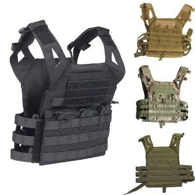 Tactical Plate Carrier Vest Ammo Magazine Body Armor Rig Airsoft Paintball Gear