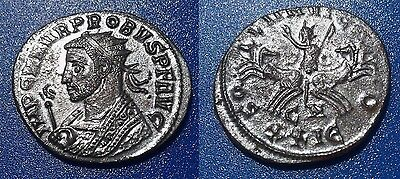 Probus. Silvered Radiate. A.D. 276-282. Ancient Roman Coin.
