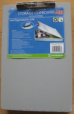 Saunders Aluminum Storage Clipboard; Document Organizer; Letter Size; 00208