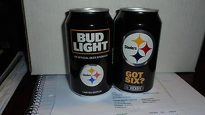 Bud Light Pittsburgh Steelers  2017   Kick Off Can