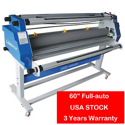 "US Stock ! 60"" Full - auto Low Temp Wide Format Cold Laminator + Stand 110V"