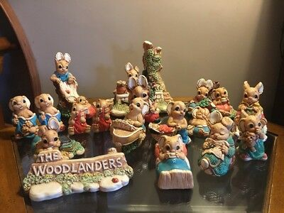 Woodlander Rabbit Collection - Mereside Stoneware - Similar To Pendelfins