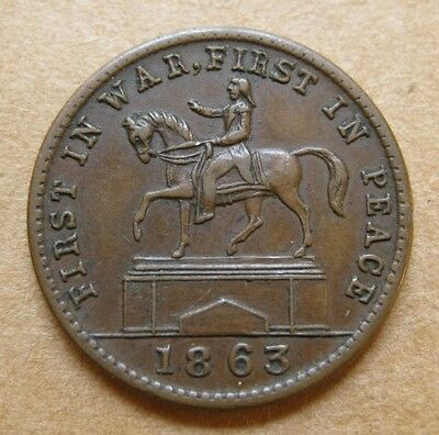 1863 Patriotic CWT - 173/272a EF - George Washington Equestrian Monument in NY