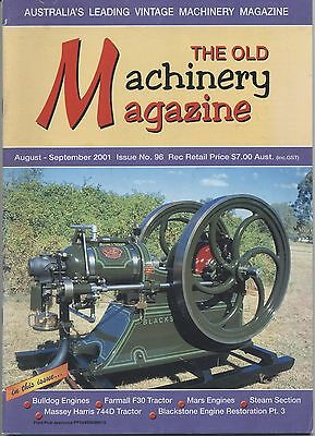 The Old Machinery Magazine TOMM  issue 96 August-September 2001