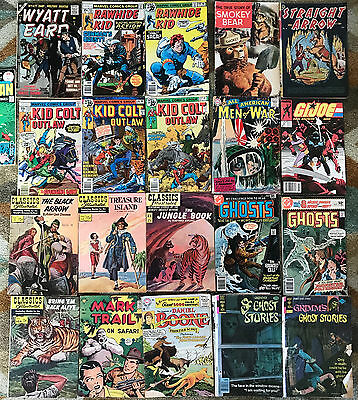 MIXED Lot of 21 GHOSTS KID COLT RAWHIDE KID GI JOE CLASSICS ILLUSTRATED Comics