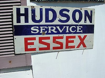 Hudson Car Sign,  Essex 100% Original 30 By 16 Double Sided Swing Sign