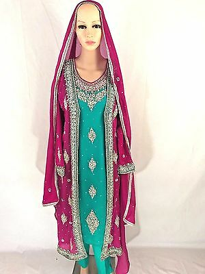 Pakistani Elegant Party Wear Formal Heavy Bridal Dress
