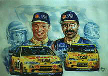 Dick Johnson and John Bowe signed limited edition print