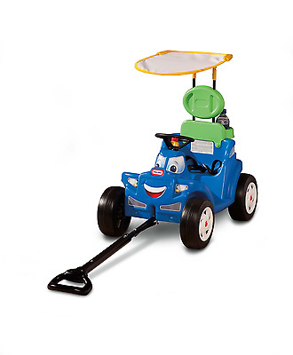 Little Tikes Deluxe 2-in-1 Cozy Roadster, Kids Push and Pull Car Ride On Toy