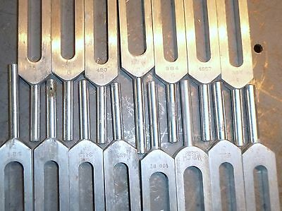 Large Lot Tuning Fork Set Piano Tools Science Class etc