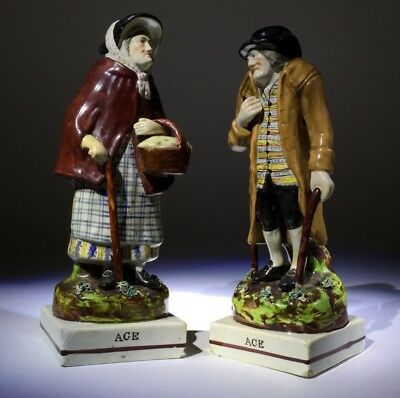 Staffordshire couple titled AGE, c.1825