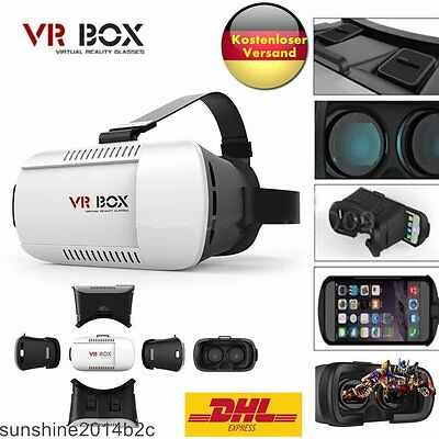 3D Virtual Reality Brille Video Film f. iPhone Android VR Box Googles CardboardL