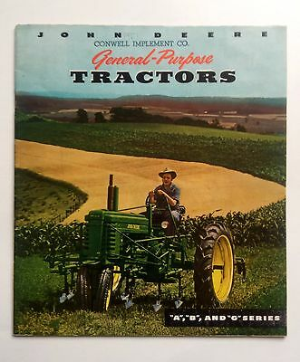 1951 John Deere Tractor Sales Catalog Model A, B, G Series Nice Condition!