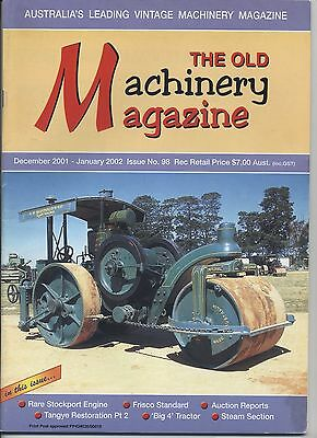 The Old Machinery Magazine TOMM  issue 98 December 2001-January 2002
