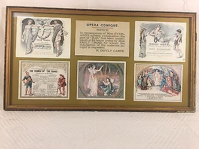 Antique Hotel Savoy Opera Theater / Restaurant Advertising Collage Prints