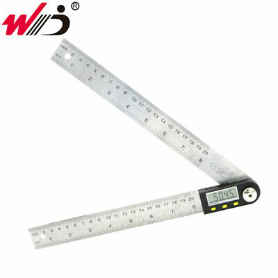 200 mm 8 inch Electronic Digital Protractor Goniometer Angle Finder Steel Ruler