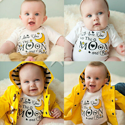 Newborn Baby Boys Girls Jumpsuit Long Sleeve Kid Romper Bodysuit Clothes Outfits