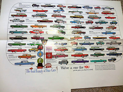 Original 1958 FORD Family of Fine Cars Facts & Facets brochure catalog