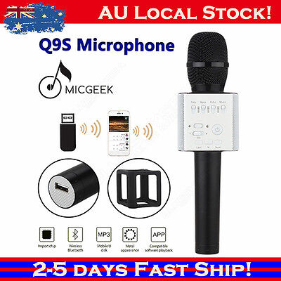MicGeek Q9S Wireless Microphone Bluetooth KTV USB Player 2600mAh battery For PC