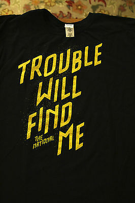 The National Trouble Will Find Me Band Concert Black T-Shirt Adult 2XL XXL Promo