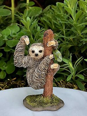 Miniature FAIRY GARDEN Figurine ~ Mini Sloth on Tree ~ NEW
