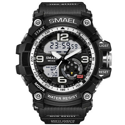 SMAEL Men Sport Watch Brand LED Digital Wristwatch Military Dual Display Watches