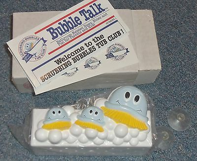 Dow Scrubbing Bubbles Promo Bathtub Organizer Caddy NIB Club Kit 1993 Vintage