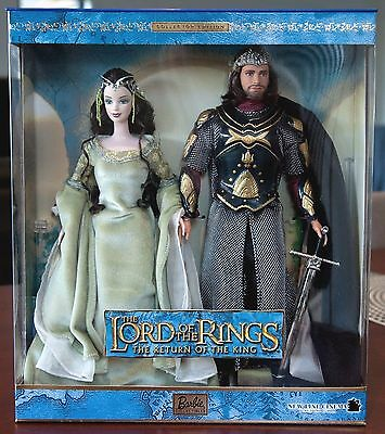 BRAND NEW IN BOX Lord Of The Rings Arwen & Aragorn  Barbie Doll AUS POST!